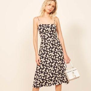 Reformation peach dress in daisy chain medium
